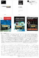 "ICOM IC-R8500 INSTRUCTION + SERVICE MANUAL + ADDENDUMS + 4 x 11x17"" SCHEMATICS"