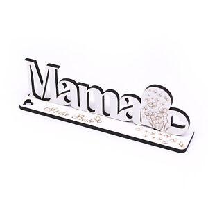 Deko Aufsteller Mama ist die Beste Schriftzug zum Hinstellen Schild Herz 20x6cm