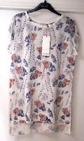 Ladies M&S Per Una Sizes 8 10 12 14 16 18 Linen Blend Floral Top Bnwt