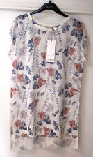 Ladies M&S Per Una Sizes 8 10 12 14 16 18 Linen Blend Floral Top Bnwt