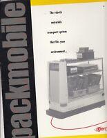 Packmobile vintage brochure catalog - robotic packing 2006 pamphlet Egemin / t1