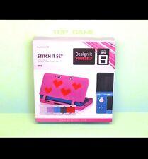 STITCH IT SET - Housse Protection Nintendo 3DS NEUF -(Kit Silicone à décorer)-