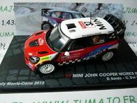 RIT28M voiture 1/43 IXO Altaya Rallye MINI JCW WRC Sordo Monte Carlo 2012