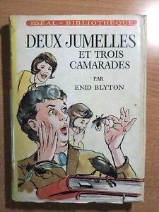 Enid BLYTON DEUX JUMELLES ET TROIS CAMARADES 1968 EO Ideal Bibliothèque jaquette