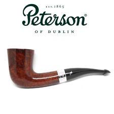 New Peterson Pipe Sherlock Holmes Mycroft Silver Band & P Lip