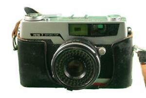 THE LEGENDARY PETRI 7 GREEN-O-MATIC RANGEFINDER CAMERA - 1963 - NEEDS WORK 797X