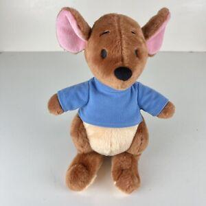 "Disney Store Exclusive Winnie the Pooh ROO Plush Kangaroo 10"" Blue Shirt Stuffed"