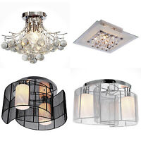 Crystal Chandelier Ceiling Mount Pendant Light Lamp Modern Illumination Fabric