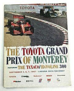 1997 Toyota Grand Prix Of Monterey At Laguna Seca Cart/Indycar Racing Program