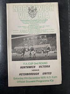 Northwich Victoria V Peterborough 11/12/76 ( FA Cup 2nd Round )