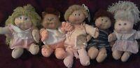 Cabbage Patch Kids Dolls  Vintage Lot Of 5 Plus Clothes&Accessories (H3)
