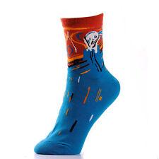 """""""the scream"""" women socks,Edvard Munch's the scream socks for women,Skrik socks"""