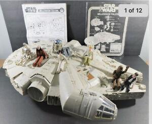 1979 Vintage Kenner Star Wars MillenniumFalcon w/Box Complete, Working w/Figures