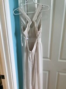 Women's Cream Maxi Dress With Cut Out Back Size Small
