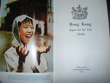 *RARE* SCARCE Antique Book HONG KONG Annual Report for the Year 1964 Protective