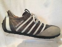 Cult Barcelona Leather Suede Grey White Casual Driving Sneaker Mens 44 US 10