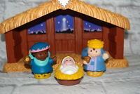 Fisher Price Little People Nativity Stable Wise Men Jesus Figures Partial Set