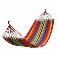 """75"""" x 31"""" Canvas Fabric Double Spreader Bar Outdoor Camping Travel Stree Hammock"""
