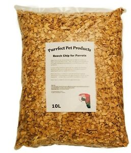 Beech chips Coarse for Parrots,Caged Birds Bedding 10 Litre bags