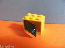 Lego--4532/4533--Schrank,Container,Box--2 x 3 x 2 -Mit Türe--Gelb/Trans/blau