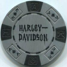 2 color set HARLEY DAVIDSON SKULL poker chip samples set 197