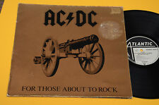 AC DC LP FOR THOSE ABOUT TO ROCK ORIG GERMANY 1981 EX TOP AUDIOFILI