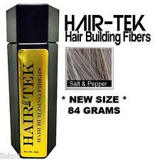 Hair-tek Hair Building Fibers Instantly Conceal Balding  1 - 84gms Salt&Pep