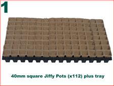 40mm Square Jiffy Pots (x112) Plus Custom Tray
