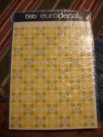 Vintage Retro BSB EURODECAL TRANSFER Green/Gold Pattern