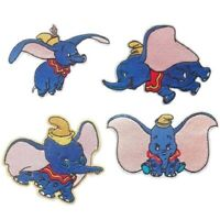 ÉCUSSON PATCH thermocollant - ÉLÉPHANT DUMBO Bleu gris - applique à repasser