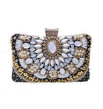 Borsa donna  pochette sera tracolla colorata gioiello elegante simil pelle  2387