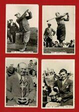 More details for golf cigarette cards - pattreiouex - 1935 - including bobby jones  (tb02)