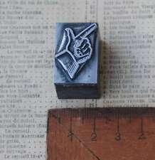 ZEIGEFINGER Bleisatz Handsatz Druckplatte Druckstock Symbol printing block