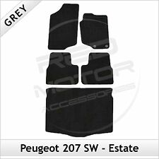 Peugeot 207 SW Estate 2006 - 2012 Tailored Fitted Carpet Car & Boot Mats GREY