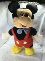 Vintage Mickey Mouse Little Boppers Dancing Toy 1987 Overalls Walt Disney FS EUC