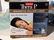 "Therapy Magnetic Pillow Liner with  50 Magnets King Size 20 x 36"" Homedics - NEW"