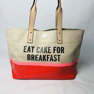Kate Spade 'Eat Cake for Breakfast' Canvas Tote