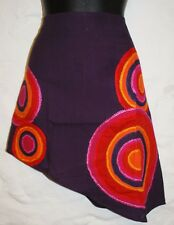 New Embroidered Mini Skirt M 12 14 - Hippy Fair Trade Hippie Gypsy Circles Boho
