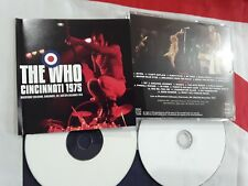 The Who Cincinnati 1975 CD import Live Concert CD-R rare Keith Moon limited rock