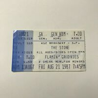 The Stone Flamin Groovies San Francisco Concert Ticket Stub Vintage 1987