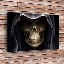 Demon Alien Devil Skull Painting Home Decor HD Canvas Print Wall Art Picture