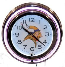 Minnesota Vikings Neon Clock NFL New Wall Clock Lifestyle Lighting