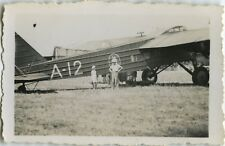 PHOTO ANCIENNE - VINTAGE SNAPSHOT - AVION TARMAC A-12 - PLANE DAKAR Vers 1935
