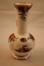 "Old Country Roses Royal Albert 6"" Bud Vase Bone China England 1962 Fluted Red"