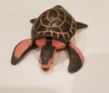"2001 K & M Sea Turtle Small Plastic Toy 3.5"" Long Free Shipping"