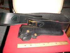Vintage Hunter 27 Black Tooled Leather Western Holster Belt size L, 38 Cal, Ammo