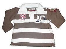 Zara tolles Langarmshirt Gr. 74 braun-weiß gestreift !!