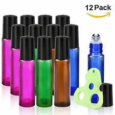 Botellas De Vidrio Vacías En Roll-On Para Aceites Esenciales Incluye Abridor
