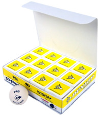 Brand New Dunlop Sports Pro Glass Court Squash Ball (White, Pack of 12)