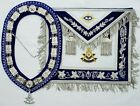Masonic Collar Apron Jewel Hand EMBROIDERED PAST MASTER Package #300